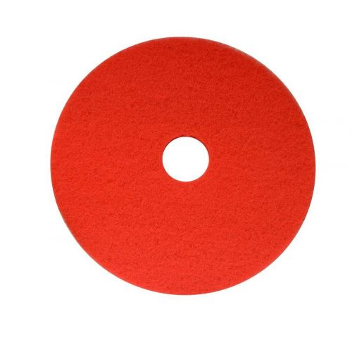 Maxima Polyester Floor Pads for Rotary Floor Polisher Red 17 Inch (Pack 5) 0701001