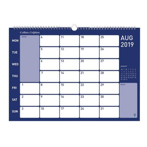 Collins A3 Memo Wall Calendar