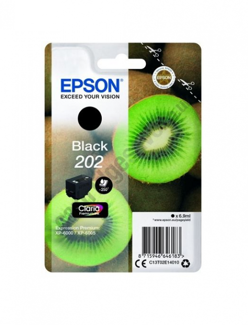 Epson C13T02E14010 202 Black Ink 7ml