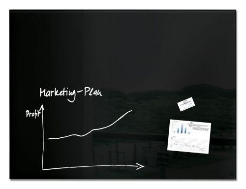 Sigel Artverum Magnetic Glass Board 1200x900mm Black