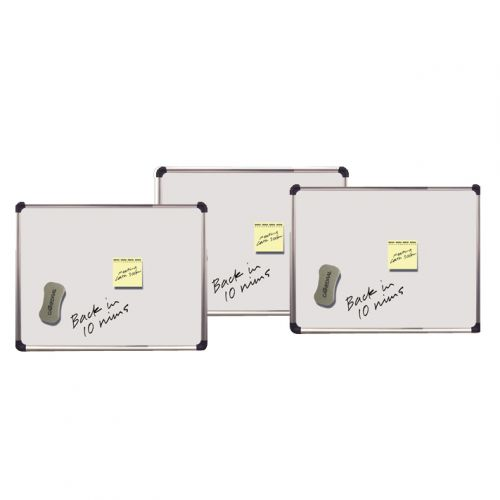 Magnetic Drywipe Boards 280x430mm Silver with Chrome