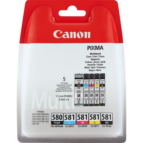 Canon 2078C005 PGI580 CLI581 Ink 11ml Multipack