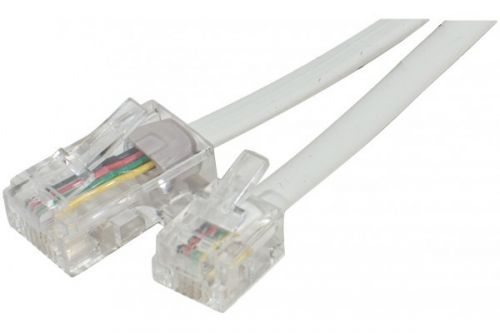 EXC Telephone Cord RJ11 To RJ45 White 3 Metre Cable