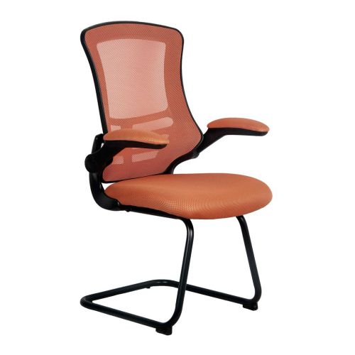 Luna Orange Cantilever Mesh Folding Arms
