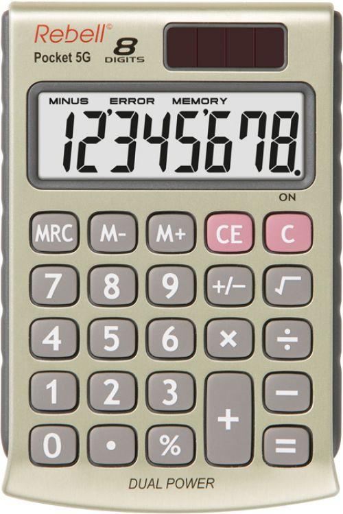Rebell RE-POCKET 5G Pocket Calculator 8 Digit