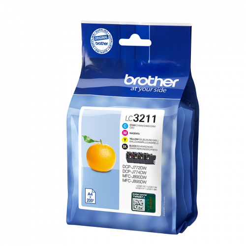 Brother LC3211VAL Black Colour Ink 15ml 3x12ml Multipack
