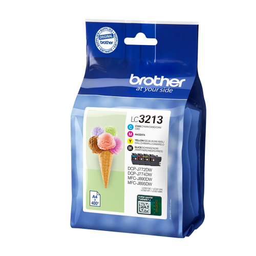 Brother LC3213VAL Black Colour Ink 15ml 3x10ml Multipack