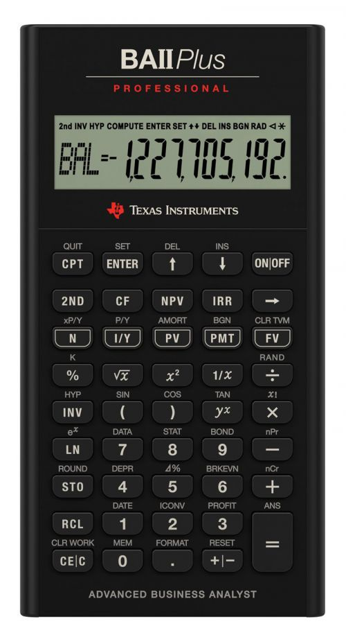Image for BA II Plus Pro Financial Calculator