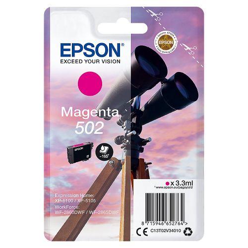 Epson C13T02V34010 502 Magenta Ink 3ml