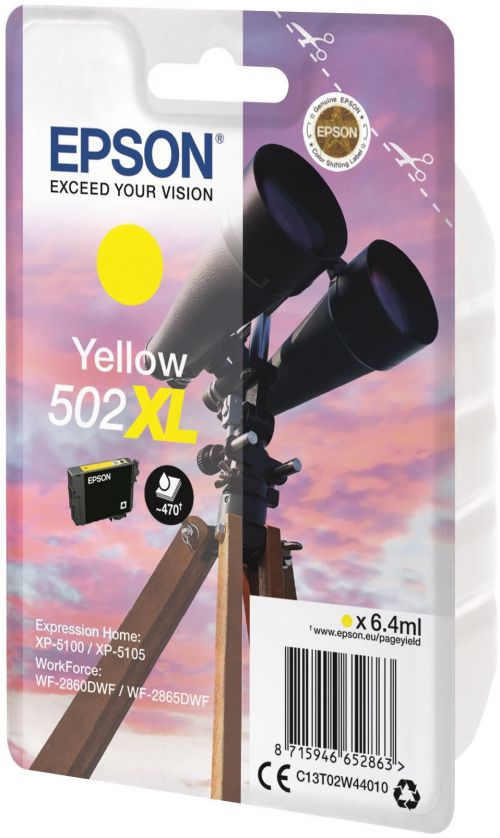 Epson C13T02W44010 502XL Yellow Ink 6ml