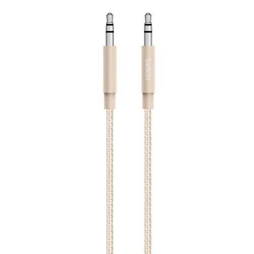 Belkin 3.5mm Braided Aux Cable Gold