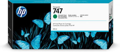 HP P2V84A 747 Chromatic Green Ink 300ml