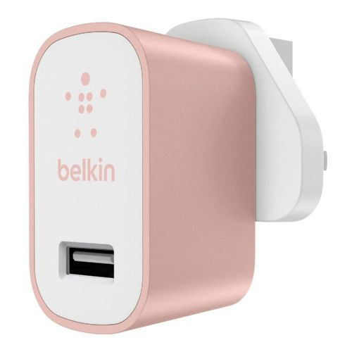 Belkin Mains Charger 3 Pin Rose Gold
