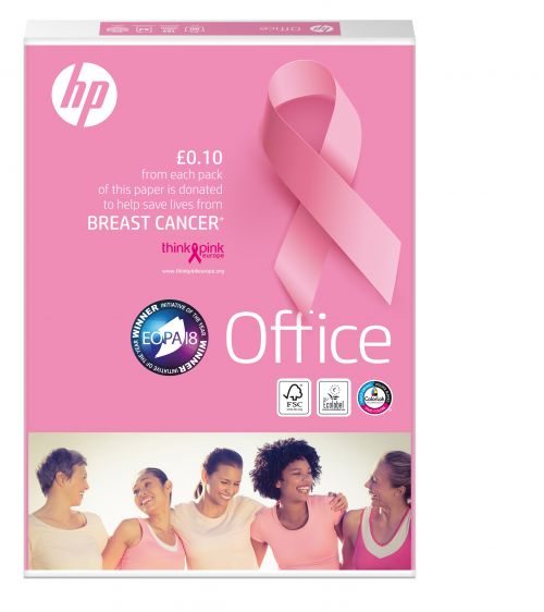 HP Office A4 Pink Ream BX10 reams