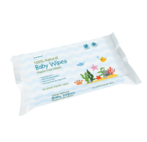 Image for EcoClenz 100% Natural Baby Wipes PK60