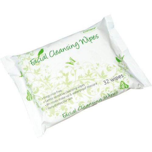 EcoClenz Facial Cleansing Wipes (Fragrance Free) PK32