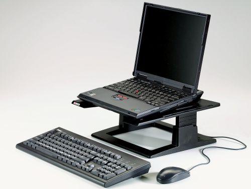 3M Ergonomic Notebook Riser Black LX500
