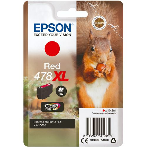 Epson C13T04F54010 478XL Red Ink 10ml