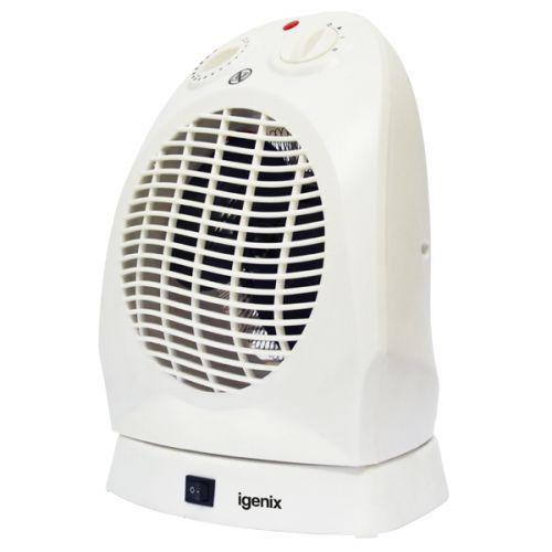 Igenix 2kW Upright Oscillating Fan Heater White Ref IG9021