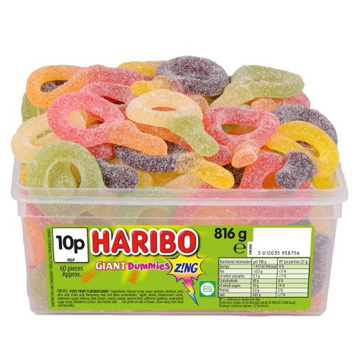 Haribo Giant Dummies Zing 816g Tub