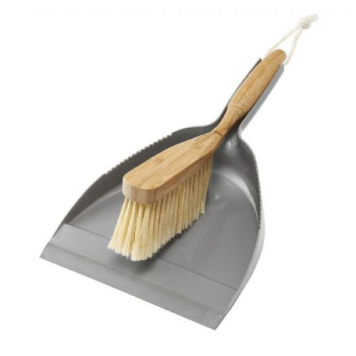 Addis Bamboo Dustpan and Brush Set