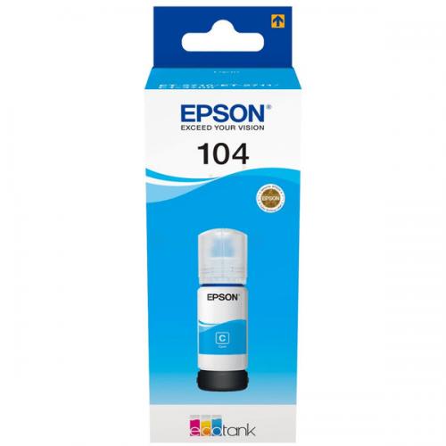 Epson C13T00P240 104 Cyan Ink 70ml