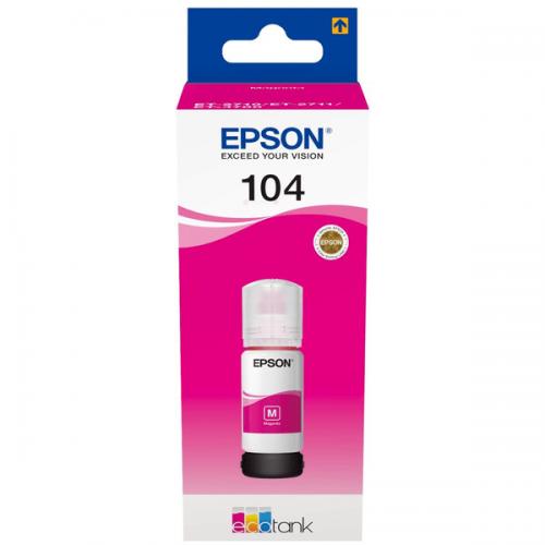 Epson C13T00P340 104 Magenta Ink 70ml