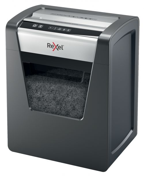 Rexel Momentum X415 CC PAper Shredder P4 Cross Cut 23L Capacity Anti-Jamming  Black Ref 2104576