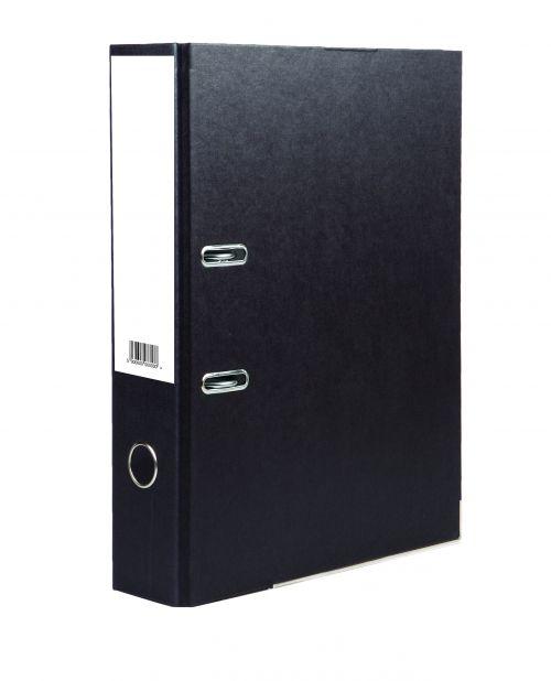 Value Lever Arch File A4 Black PK10