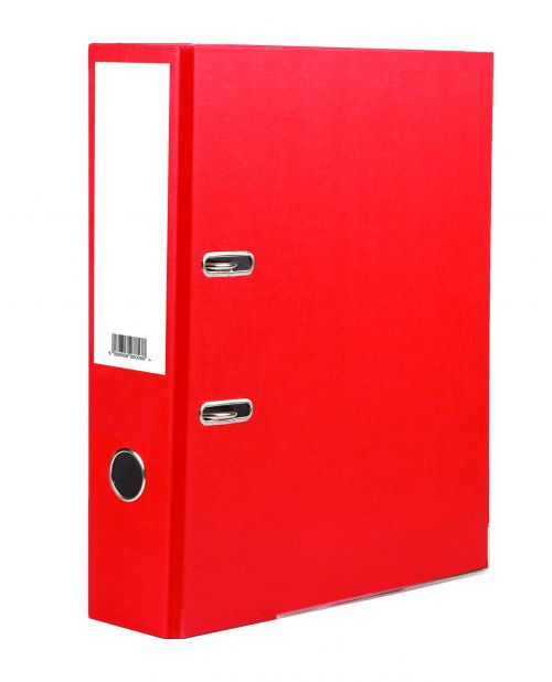 Value Lever Arch File A4 Red PK10