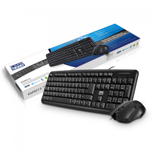 Dynamode USB Standard 104 Key Keyboard And Mouse Black
