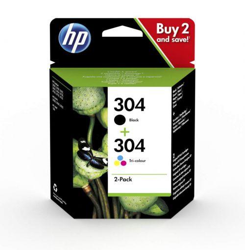HP 304XL Ink Cartridge 2 x Black / 1 x Colour