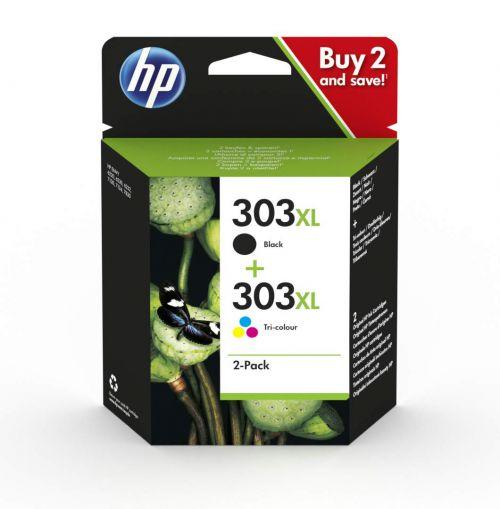 HP 3YN10AE 303XL Black Tricolour Ink 12ml 10ml Twinpack