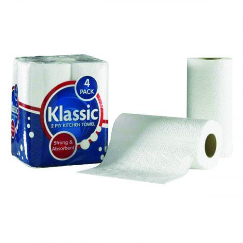ValueX 2Ply White Kitchen Towel (Pack 24)
