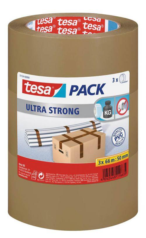tesa Ultra Strong Tape Brn 50mmx66M PK6