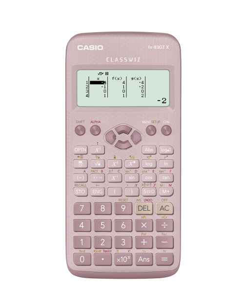 Casio FX-83GTX Scientific Calculator Pink