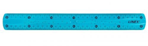 Linex Flexible School Ruler 30cm Bl