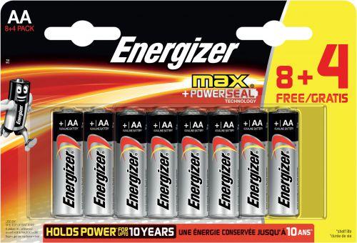Energizer MAX AA PK8 + 4 Free