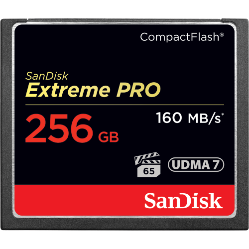 256GB Extreme Pro Compact Flash Card