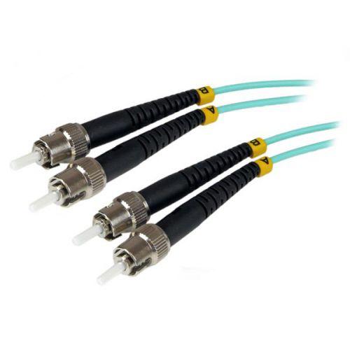 StarTech 1m Aqua MM 50 125 Duplex LSZH Cable