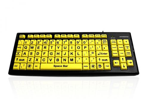 Accuratus Hi Vis Black with Yellow Keys Keyboard