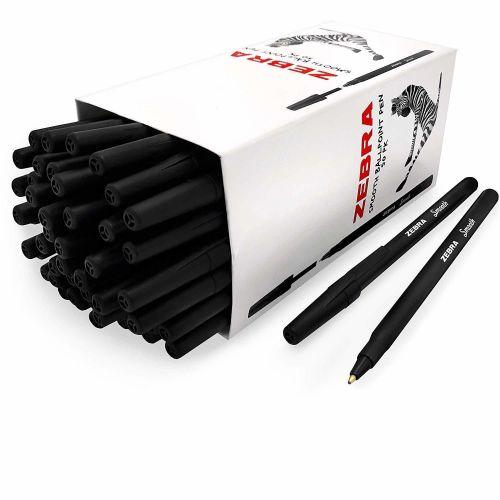 Zebra Z-ST 50 Pack Smooth Ink Stick Pen Black