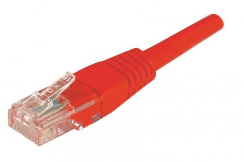 EXC Patch Cable RJ45 U UTP cat.6 Red 1M