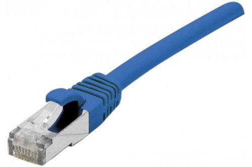EXC RJ45 cat.6a F UTP LSZH Blue 0.5M