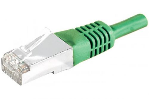 EXC Patch Cable RJ45 cat.5e F UTP Green 1M