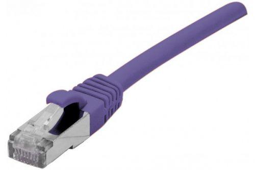 EXC RJ45 cat.6a F UTP LSZH Purple 0.5M