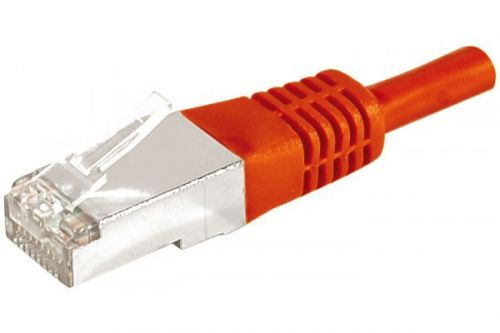 EXC PATCH Cable RJ45 cat.6a F UTP Red 0.3M