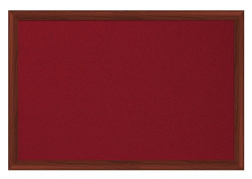 Bi-Office Earth-It Red felt 240x120cm Cherry Wood 32 mm
