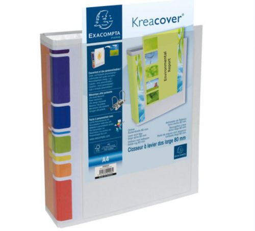 Exacompta Kreacover LAF A4 80mm Spine WH PK10