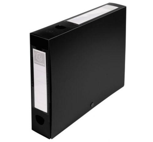 Exacompta Stud Filing Box A4 60mm Spine Black